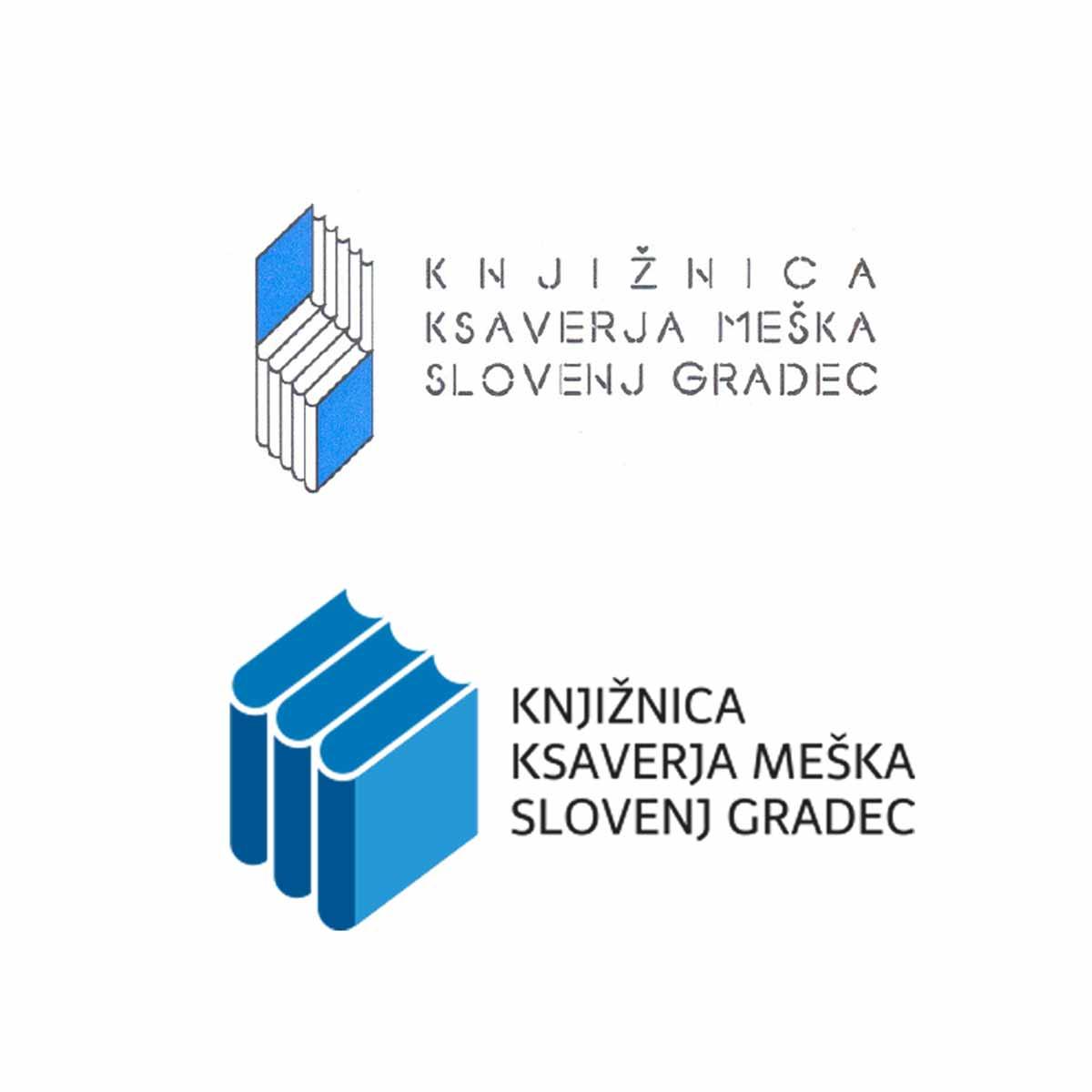 Revolver oblikovanje: Knjižnica Ksaverja Meška Slovenj Gradec - logotip