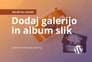 Revolver navodila: dodaj galerijo in album slik
