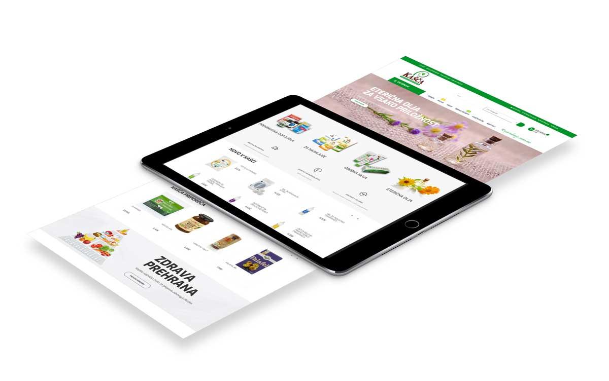 Agencija Revolver - Izdelava spletnih trgovin: Kasca.si