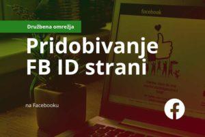 Revolver navodila: pridobivanje FB ID