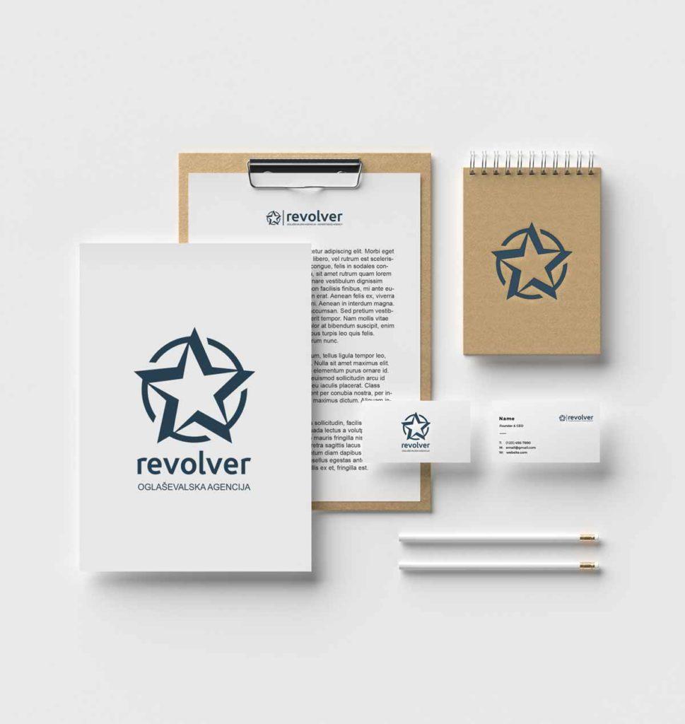 Revolver - celostna grafična podoba - grafično oblikovanje