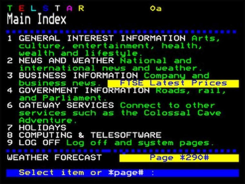 Evolucija spletnih trgovin se je začela z Videotexom