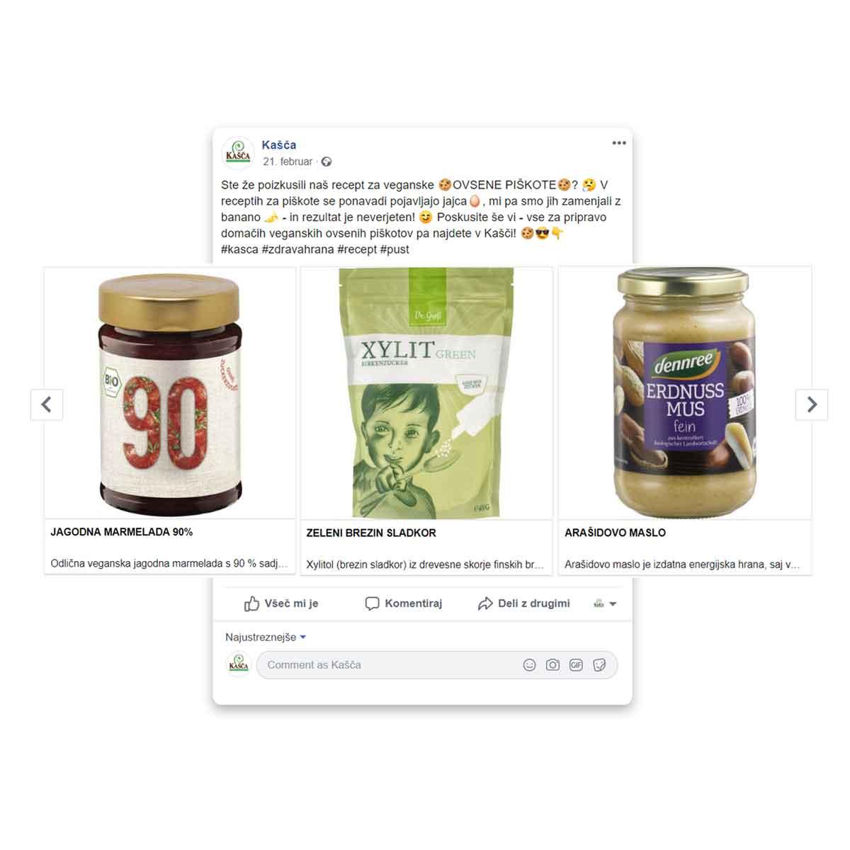 Trgovina Kašča - promocija več produktov