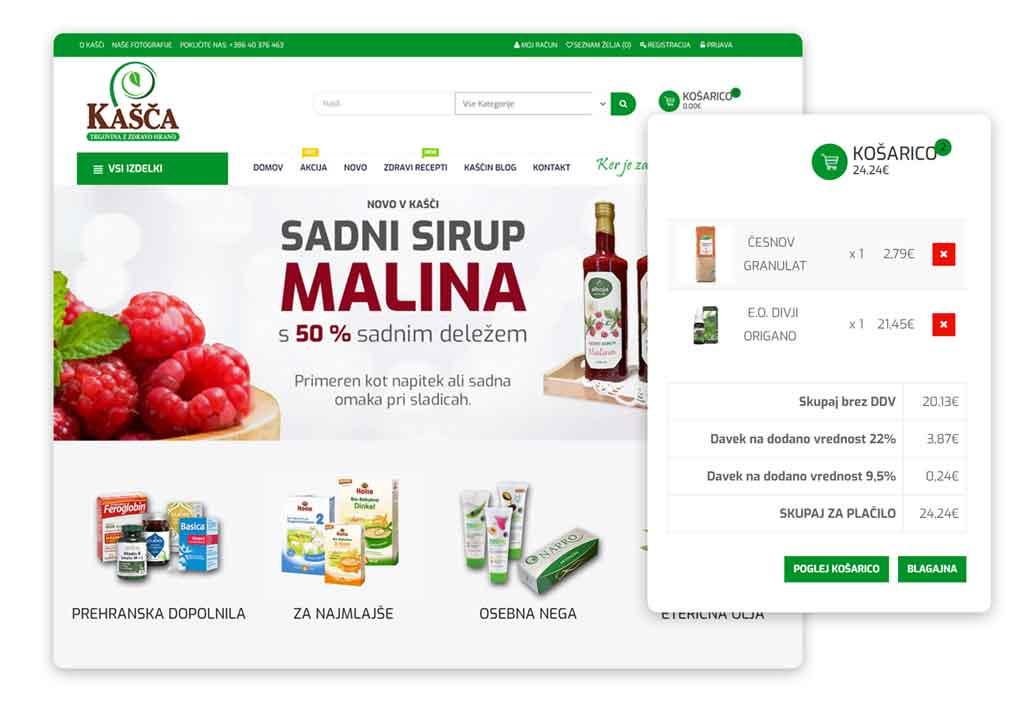 Trgovina Kašča - ogled spletne trgovine